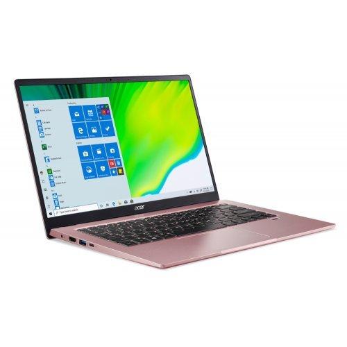 "Лаптоп Acer Swift 1, SF114-34-C7UR, Celeron N5100 (1.1Ghz up to 2,8Ghz, 4MB), 14"" FHD IPS, 8GB DDR4, 256GB PCIe SSD, Intel UHD Graphics, HD Cam.& Mic., Wi-Fi 6AX, BT 5.1, HDMI, 2xUSB 3.2,   WIn 10 Home, Pink (снимка 1)"