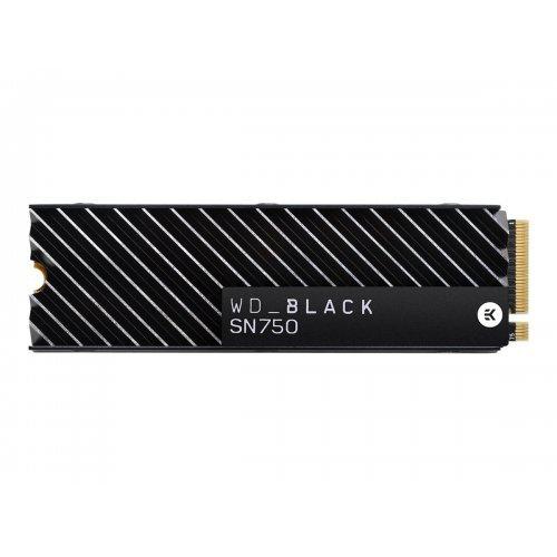 SSD Western Digital 2TB Black SSD SN750 Gaming PCIe Gen3 8Gb/s M.2 High-Performance NVMe SSD with heatsink internal single-packed (снимка 1)