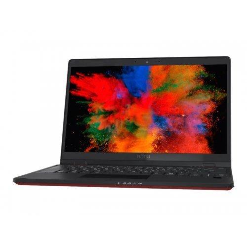 """Лаптоп Fujitsu LIFEBOOK U9311, черен и червен, 13.3"""" (33.78см.) 1920x1080 (Full HD) без отблясъци IPS тъч, Процесор Intel Core i7-1185G7 (4x/8x), Видео Intel Iris Xe Graphics, 16GB LPDDR4 RAM, 1TB SSD диск, без опт. у-во, Windows 10 Pro 64 ОС, Клавиатура- светеща (снимка 1)"""