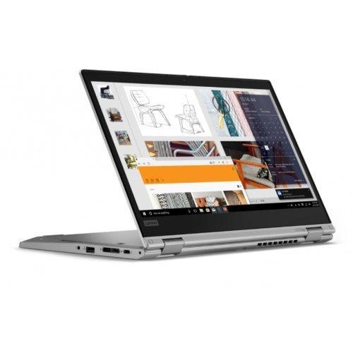"Лаптоп Lenovo ThinkPad L13 Yoga G2, 2 в 1, сребрист, 13.3"" (33.78см.) 1920x1080 (Full HD) без отблясъци 60Hz IPS тъч, Процесор Intel Core i5-1135G7 (4x/8x), Видео Intel Iris Xe Graphics, 8GB DDR4 RAM, 256GB SSD диск, без опт. у-во, Windows 10 Pro 64 ОС, Клавиатура- светеща с БДС (снимка 1)"