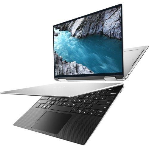 "Лаптоп Dell XPS 9310 ( 2 in 1 ), сребрист, 13.4"" (34.04см.) 3840x2400 (UHD+) без отблясъци 60Hz тъч, Процесор Intel Core i7-1165G7 (4x/8x), Видео Intel Iris Xe Graphics, 16GB LPDDR4X RAM, 512GB SSD диск, без опт. у-во, Windows 10 Pro 64 English ОС, Клавиатура- светеща (снимка 1)"