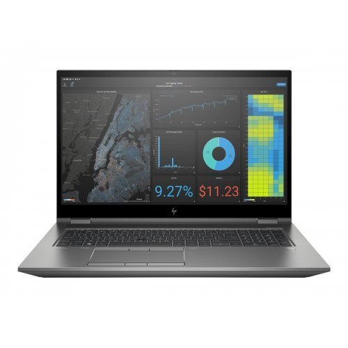 """Лаптоп HP ZBook Fury 17 G7, сив, 17.3"""" (43.94см.) 1920x1080 (Full HD) без отблясъци IPS, Процесор Intel Core i7-10850H (6x/12x), Видео nVidia Quadro T1000/ 4GB GDDR6, 16GB DDR4 RAM, 512GB SSD диск, без опт. у-во, Windows 10 Pro 64 (при поискване) ОС, Клавиатура- светеща с БДС (снимка 1)"""