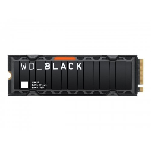 SSD Western Digital 2TB Black SN850 NVMe SSD Supremely Fast PCIe Gen4 x4 M.2 with heatsink internal single-packed (снимка 1)