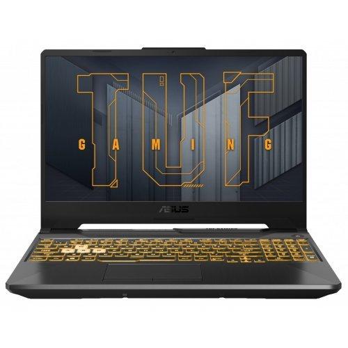 """Лаптоп Asus TUF Gaming F15 FX506HC-HN002, сив, 15.6"""" (39.62см.) 1920x1080 (Full HD) без отблясъци 144Hz IPS, Процесор Intel Core i5-11400H (6x/12x), Видео nVidia GeForce RTX 3050/ 4GB GDDR6, 8GB DDR4 RAM, 512GB SSD диск, без опт. у-во, FreeDOS ОС, Клавиатура- светеща с БДС (снимка 1)"""