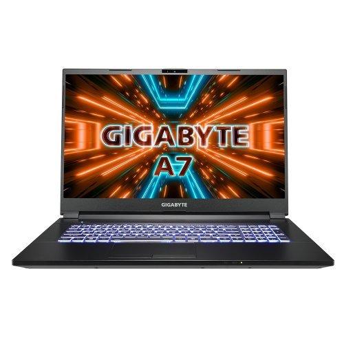 "Лаптоп Gigabyte GIGABYTE A7 X1, черен, 17.3"" (43.94см.) 1920x1080 (Full HD) IPS, Процесор AMD Ryzen 9 5900HX (8x/16x), Видео nVidia GeForce RTX 3070 8GB GDDR6, 16GB DDR4 RAM, 512GB SSD диск, без опт. у-во, Windows 10 ОС (снимка 1)"