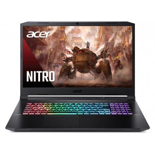 "Лаптоп Acer Nitro 5 AN517-41-R9BF, черен, 17.3"" (43.94см.) 1920x1080 (Full HD) без отблясъци 144Hz IPS тъч, Процесор AMD Ryzen 7 5800H (8x/16x/8x), Видео nVidia GeForce RTX 3080/ 8GB GDDR6, 16GB DDR4 RAM, 1TB SSD диск, без опт. у-во, Boot-up Linux ОС, Клавиатура- светеща с БДС (снимка 1)"