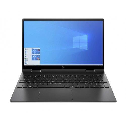 "Лаптоп HP Envy x360 15-eu0023nn, 2 в 1, черен, 15.6"" (39.62см.) 1920x1080 (Full HD) без отблясъци 60Hz IPS тъч, Процесор AMD Ryzen 5 5500U (6x/12x/7x), Видео AMD Radeon Graphics, 8GB DDR4 RAM, 512GB SSD диск, без опт. у-во, Windows 10 ОС, Клавиатура- светеща (снимка 1)"