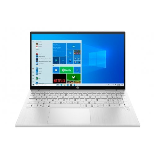 "Лаптоп HP Pavilion x360 15-er0000nu, сребрист, 15.6"" (39.62см.) 1920x1080 (Full HD) без отблясъци 60Hz IPS тъч, Процесор Intel Core i5-1135G7 (4x/8x), Видео Intel Iris Xe Graphics, 8GB DDR4 RAM, 512GB SSD диск, без опт. у-во, Windows 10 64 ОС, Клавиатура- светеща (снимка 1)"
