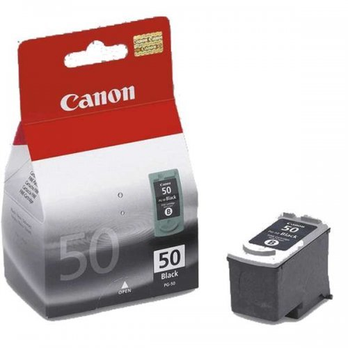 Canon PG-50, Мастилница за Canon JX200 and JX210P Fax models and select PIXMA MP and MX printers, (22ml), Цвят: Черен (снимка 1)