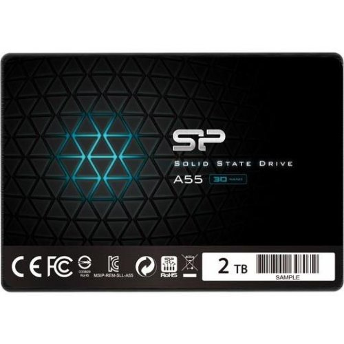 "SSD SILICON POWER 2TB A55  SSD, 2.5"" SATA III, Read/Write: 560 / 530 MB/s (снимка 1)"