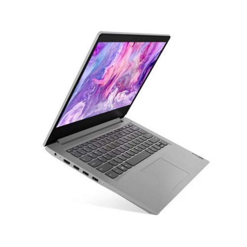 "Лаптоп Lenovo IdeaPad 3 14IIL05, сив, 14.0"" (35.56см.) 1920x1080 (Full HD) без отблясъци, Процесор Intel Core i3-1005G1 (2x/4x), Видео Intel UHD Graphics, 8GB DDR4 RAM, 256GB SSD диск, без опт. у-во, FreeDOS ОС, Клавиатура- с БДС (снимка 1)"