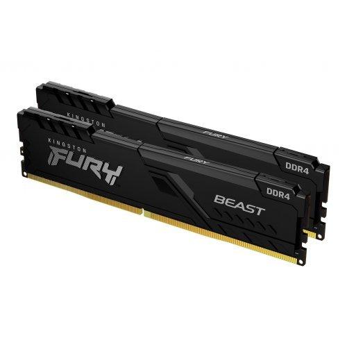 RAM памет DDR4 PC 64GB Kit 2x32GB 3600MHz, Kingston FURY Beast, Black, CL18  (снимка 1)