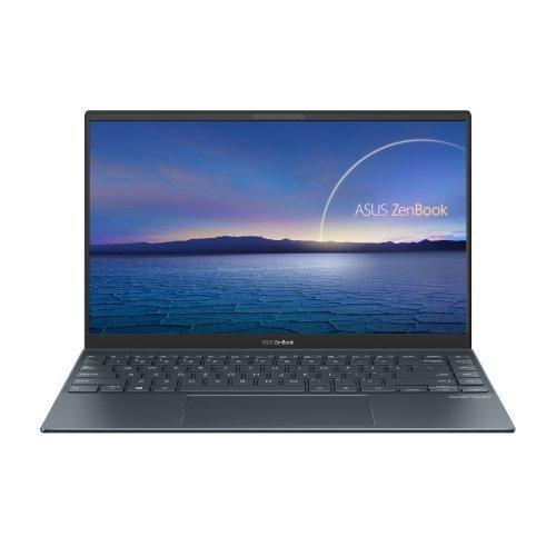 """Лаптоп Asus ZenBook UX425EA-WB723R, сив, 14.0"""" (35.56см.) 1920x1080 (Full HD) без отблясъци 60Hz IPS, Процесор Intel Core i7-1165G7 (4x/8x), Видео Intel Iris Xe Graphics, 16GB LPDDR4X RAM, 1TB SSD диск, без опт. у-во, Windows 10 Pro 64 ОС, Клавиатура- светеща с БДС (снимка 1)"""