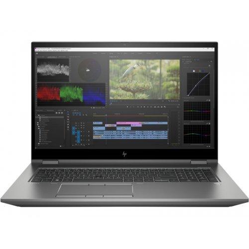 "Лаптоп HP ZBook Fury 17 G8 Mobile Workstation - Core i7 11800H / 2.3 GHz - Win 10 Pro 64-bit - 32 GB RAM - 1 TB SSD NVMe, TLC - 17.3"" IPS 3840 x 2160 (Ultra HD 4K) @ 60 Hz - RTX A3000 / UHD Graphics - Bluetooth, Wi-Fi 6 - kbd: Bulgarian (снимка 1)"