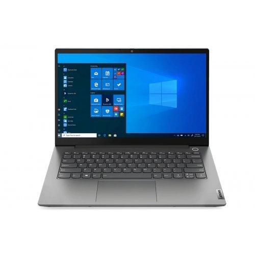 "Лаптоп Lenovo ThinkBook 14 G2 Intel Core i7-1165G7 (2.8GHz up to 4.7GHz, 12MB), 8GB DDR4 3200MHz, 512GB SSD, 14"" FHD (1920x1080) IPS AG, Intel Iris Xe Graphics, WLAN, BT, FPR, 720p Cam, 3 cell, Backlit KB, Win 10 Pro, 3Y (снимка 1)"