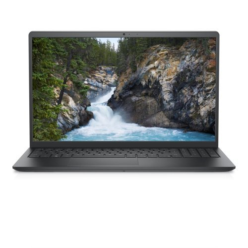 "Лаптоп Dell Vostro 3510, Intel Core i7-1165G7 (12M Cache, up to 4.7 GHz), 15.6"" FHD (1920x1080) WVA AG, HD Cam, 8GB (1x8GB) 2666MHz DDR4, 512GB SSD PCIe M.2, Intel Iris Xe, 802.11ac, BT, Backlit Kb, Ubuntu, Black, 3Y BOS (снимка 1)"