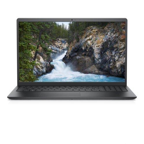 "Лаптоп Dell Vostro 3510, Intel Core i7-1165G7 (12M Cache, up to 4.7 GHz), 15.6"" FHD (1920x1080) WVA AG, HD Cam, 16GB (2x8GB) 2666Mhz DDR4, 256GB SSD PCIe M.2 + 1TB SATA 2.5"", Nvidia GeForce MX 350 2GB, 802.11ac, BT, Backlit Kb, Ubuntu, Black, 3Y BOS (снимка 1)"