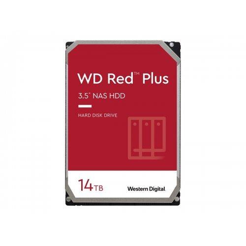 Твърд диск WD Red Plus 14TB SATA 6Gb/s 3.5inch 512MB cache 7200Rpm Internal HDD bulk (снимка 1)