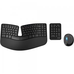 Комплект клавиатура и мишка Microsoft Sculpt Ergonomic Wireless Desktop, English, USB port, Black, L5V-00021 (снимка 2)