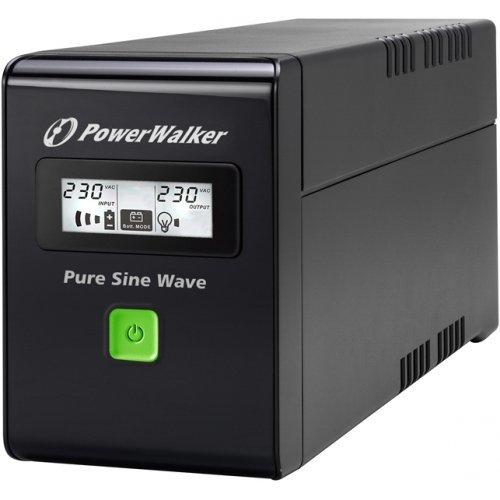 UPS PowerWalker VI 600SW, 600VA/360W, Line Interactive, Pure Sine Wave, 2x Schuko Outlet, USB (снимка 1)