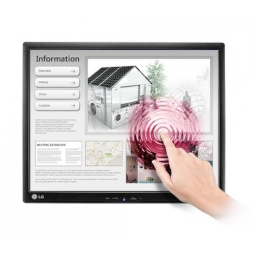 "Монитор LG 17MB15T-B, 17"" 5:4 TFT LCD Anti-Glare , LCD, 5 ms, 5,000,000:1 (DFC), 1000:1 (Native), 250cd, 1280x1024, Touch-Screen, D-SUB, USB, Black (снимка 1)"