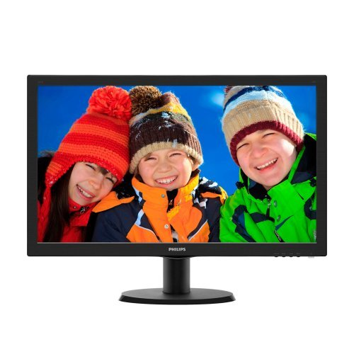 """Монитор Philips 23.6"""" Wide 243V5LSB, LCD, 1920х1080, 16:9, 10 000:1, 250 cd/m², 5 ms, 170º/160º, D-Sub, DVI, SmartControl Lite (снимка 1)"""