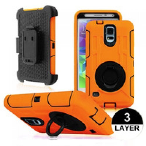 Samsung Galaxy S5 i9600 Shockproof Case with Belt Clip, Holster and Swivel (снимка 1)