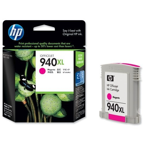 HP 940XL, C4908AE,  Officejet Мастилница, Цвят: Magenta (снимка 1)