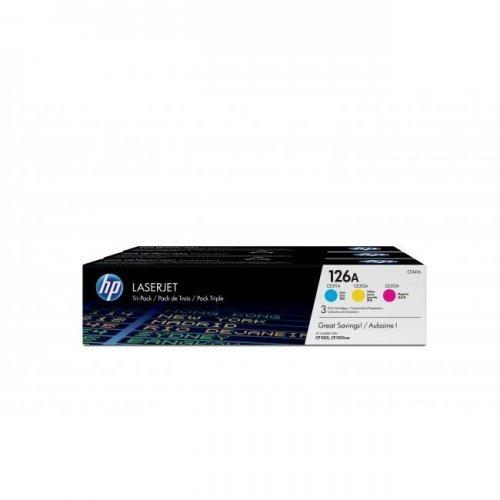 HP 126A, CF341A, Тонер касета Tri-pack за LaserJet, Цвят: Cyan/Magenta/Yellow (снимка 1)
