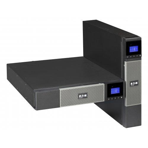 UPS Eaton MGE 5PX 2200i RT2U, 2200VA/1980W/230V, 160V-294V, 8x IEC C13 (10 A), 1x IEC C19 (16 A), IEC/EN 62040-1-1, IEC/EN 62040-2 (EMC), IEC/EN 62040-3, Line-Interactive, 1x USB, 1x RS232 (снимка 1)