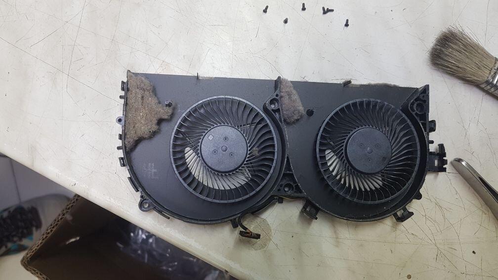 Охлаждащ модул преди почистване